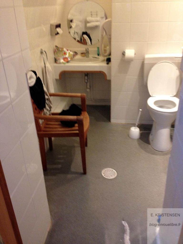 """La salle de bain avec la """"chaise de douche"""""""
